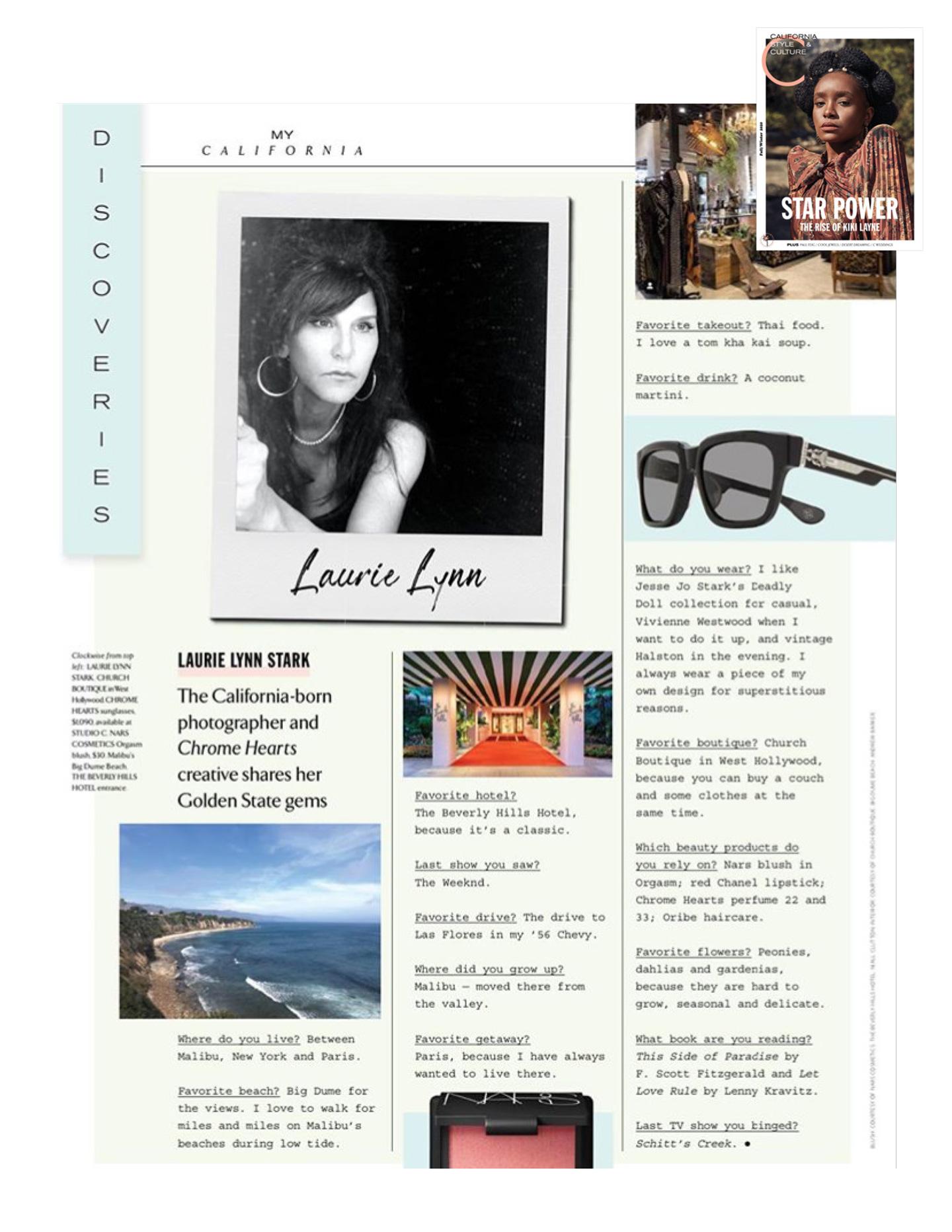 chrome hearts x C Magazine 2021 laurie lynn stark press
