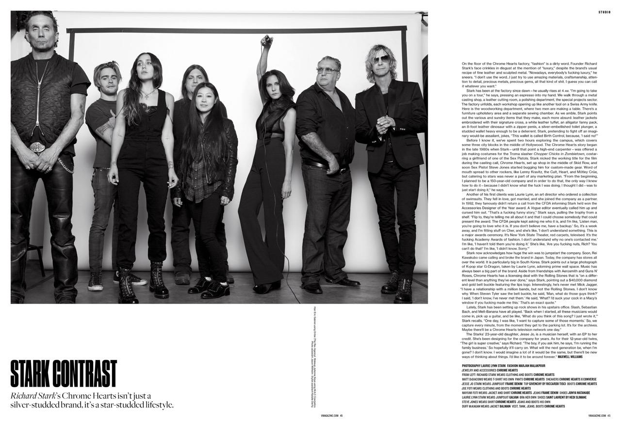 V Magazine | Laurie Lynn Stark | Chrome Hearts