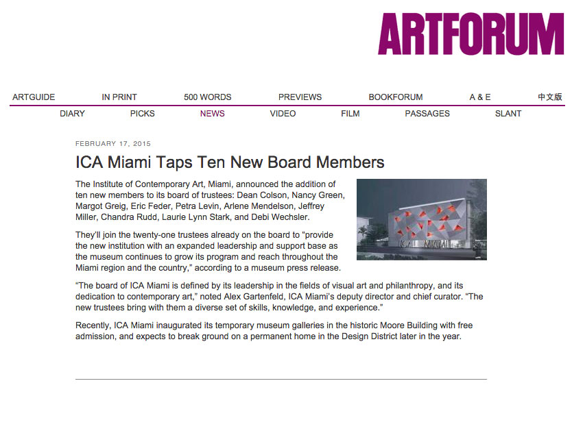 Artforum New Board Members | Laurie Lynn Stark