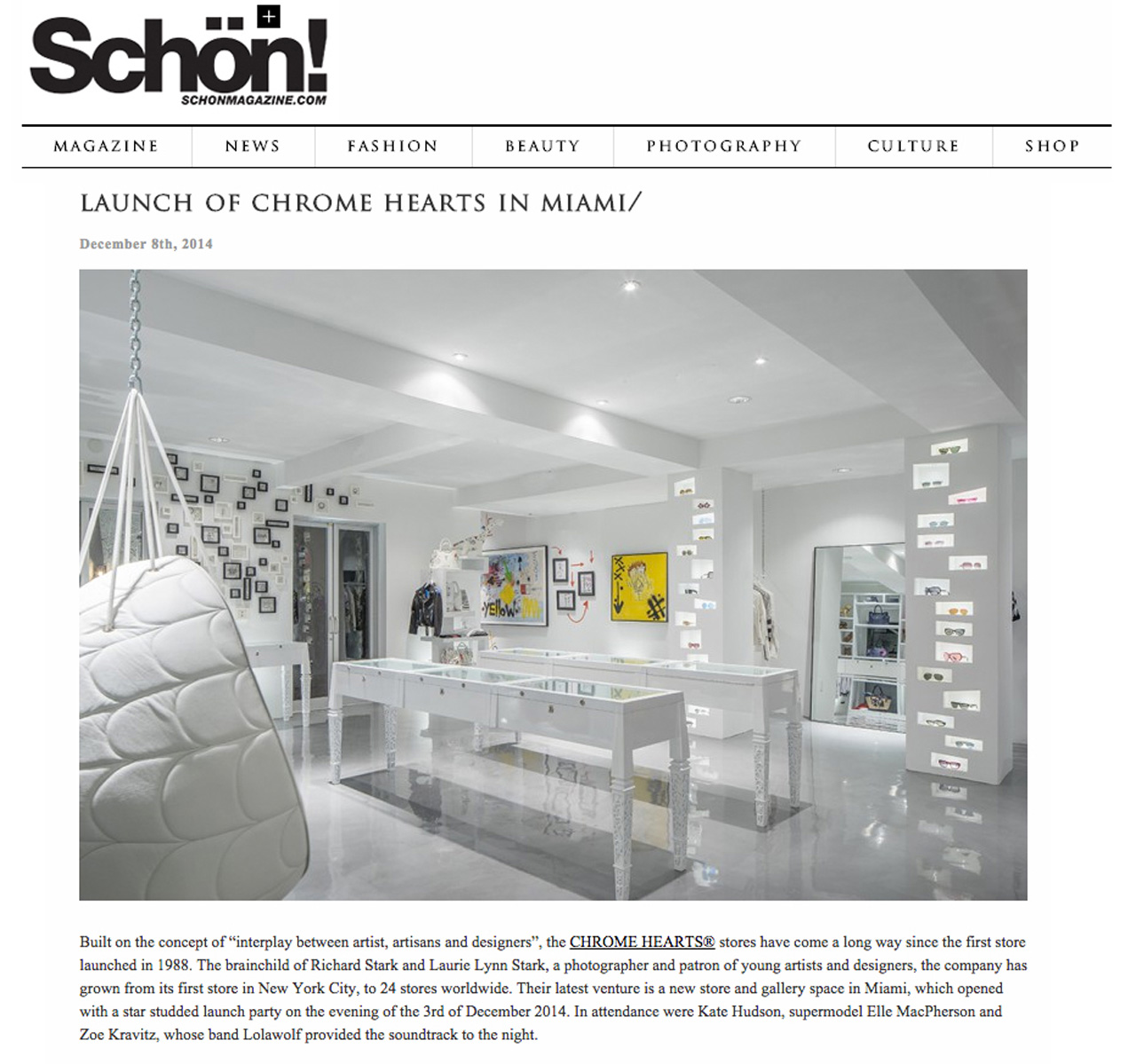 Launch of Chrome Hearts in Miami Laurie Lynn Stark