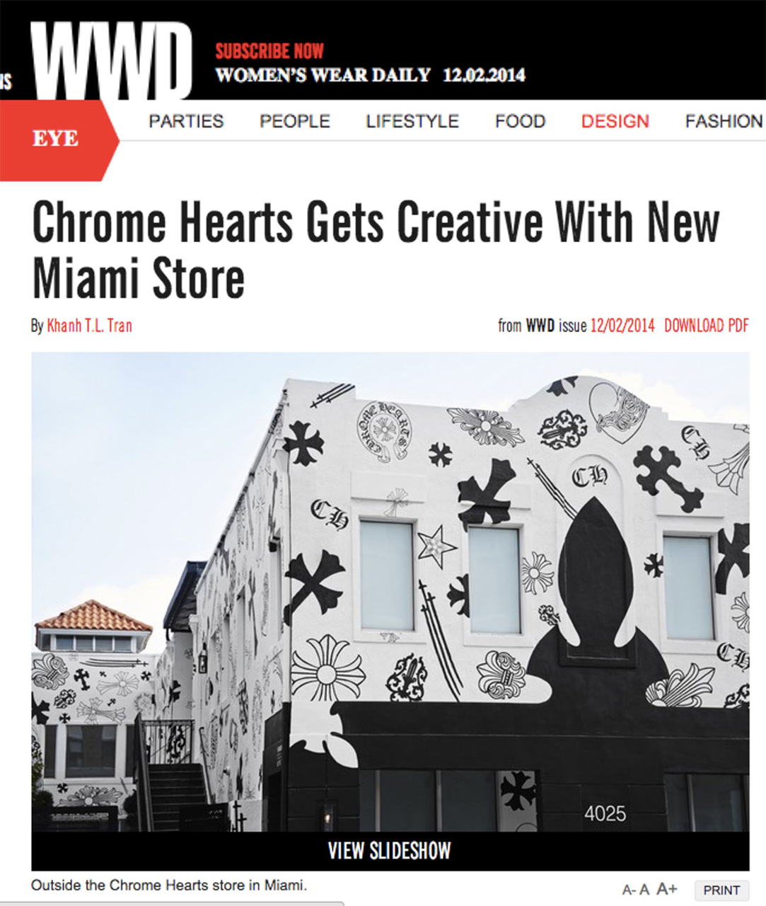 Womans Wear Daily Chrome Hearts Gets Creative with New Miami Store | Laurie Lynn Stark