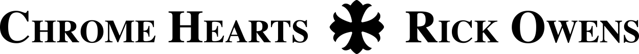 Chrome Hearts and Rick Owens Logo
