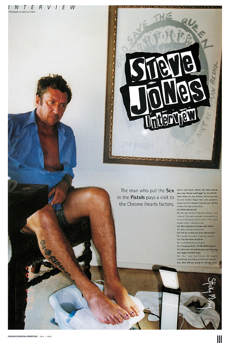 Chrome Hearts Magazine Steve Jones series 1 version 4