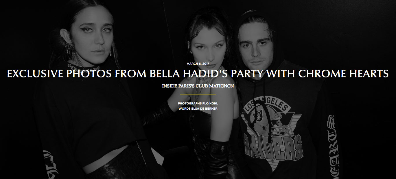 CR Fashion Book | Bella Hadid | Jesse Jo Stark | Chrome Hearts | Laurie Lynn Stark