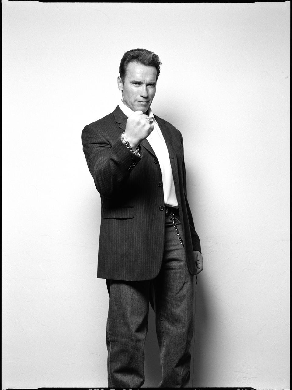 Arnold Schwarzenegger Black and White