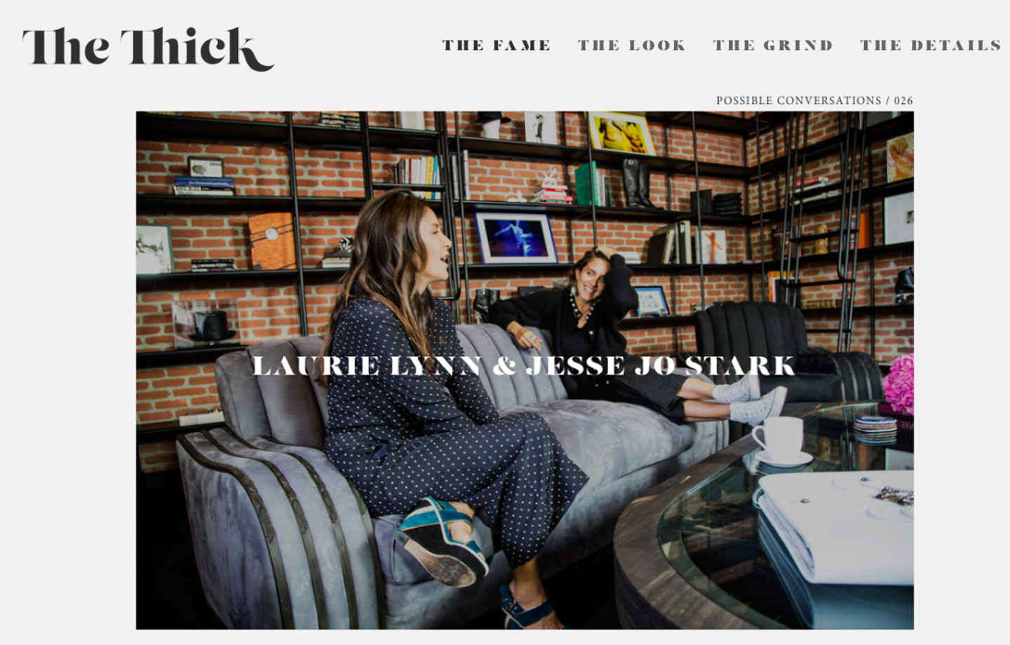 The Thick | Laurie Lynn and Jesse Jo Stark